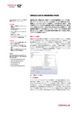Data Masking Pack データ・シート