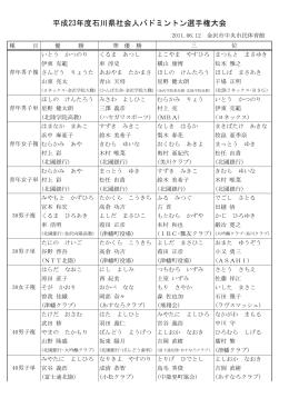 2011.06.12 平成23年度社会人選手権大会