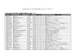 日本新生児学会 学術集会の軌跡