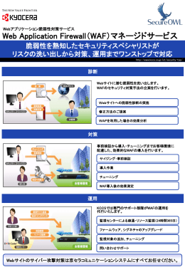 Web Application Firewall(WAF)マネージドサービス