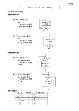 プログラミング入門Ⅰ (No.13)