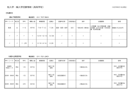 転入学・編入学試験情報(高等学校)