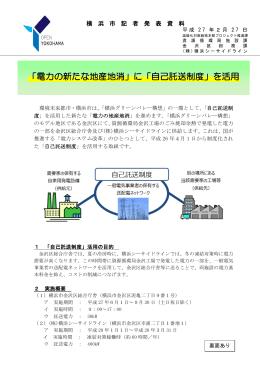 「電力の新たな地産地消」に「自己託送制度」を活用(PDF:408KB