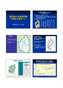 琵琶湖の水環境問題 の現状と歴史(1)