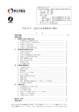 平成 25 年 国民生活基礎調査の概況