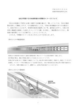 当社が用意する中央新幹線の中間駅のイメージについて 当社がお客様