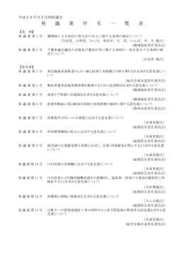 発議案件名一覧表(PDF:96KB)