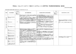 学校関係者評価委員会 - OSM-大阪スクールオブミュージック専門学校