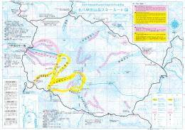 北八甲田山岳スキールート図