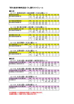「堺大魚夜市無料送迎バス」運行スケジュール 往路 ルート1:美原区役所