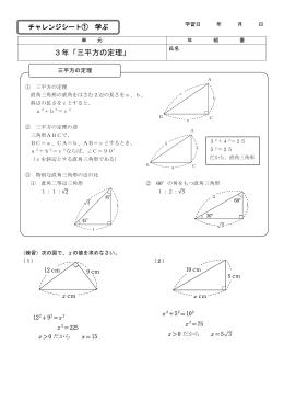 3年「三平方の定理」