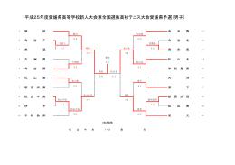 平成25年度愛媛県高等学校新人大会兼全国選抜高校テニス大会愛媛