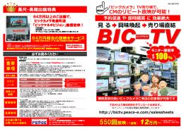 最新【ビックカメラ】BIC-TV_20140812_ppt [互換モード]