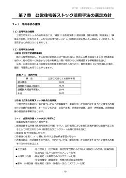 第7章 公営住宅等ストック活用手法の選定方針(774KBytes)