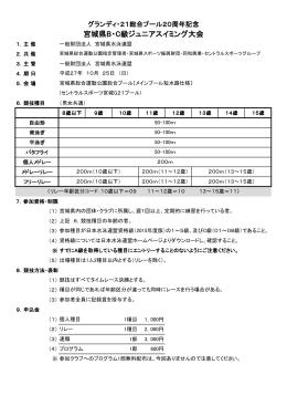 宮城県B・C級ジュニアスイミング大会