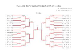 平成26年度 第67回青森県高等学校総合体育大会テニス競技