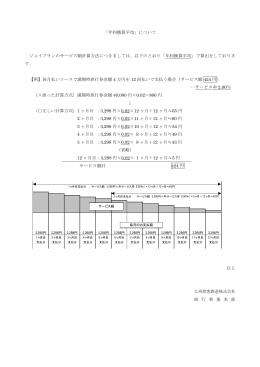 「年利換算平均」について ジョイプランのサービス額計算方法