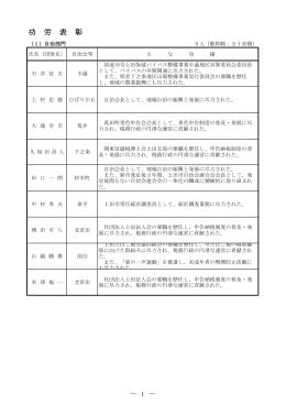 平成22年度上田市功労表彰者一覧(PDF:445KB)