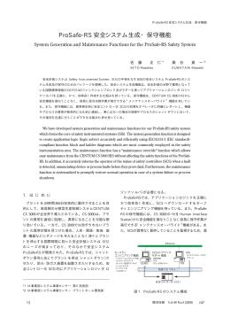 ProSafe-RS 安全システム生成・保守機能