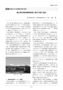 富山県の薬用植物栽培に関する取り組み