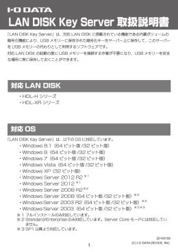LAN DISK Key Server 取扱説明書