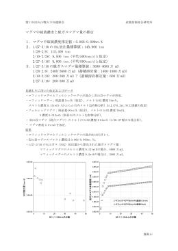 マグマ中硫黄濃度と脱ガスマグマ量の推定 1.