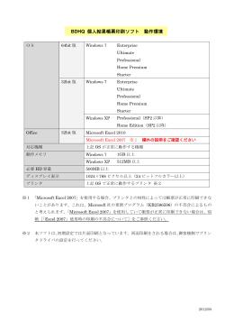 動作環境(PDF)