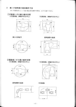 2 重いす使用者の基本動作寸法