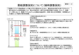 資料1-3 需給調整契約について(随時調整契約)