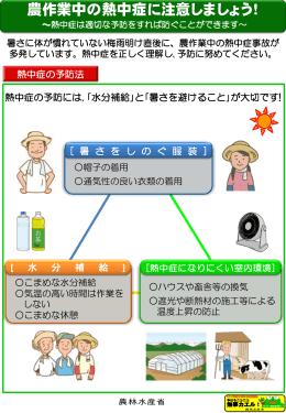 農作業中の熱中症に注意しましょうパンフレット
