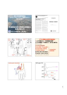 手根管症候群の電気生理検査と 結果の読み方