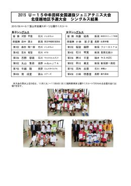 2015 Uー15中牟田杯全国選抜ジュニアテニス大会