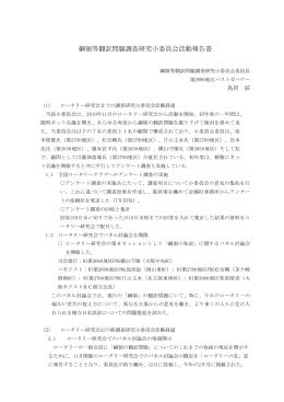 綱領等翻訳問題調査研究小委員会活動報告書