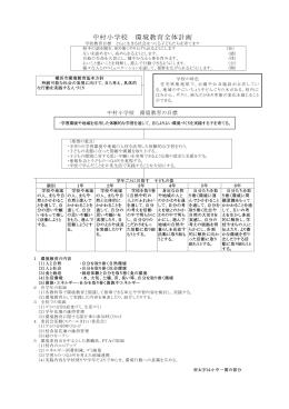 環境教育全体計画 [111KB pdfファイル]