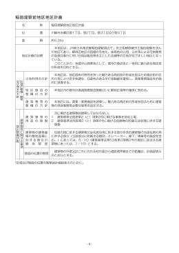 稲田堤駅前地区地区計画
