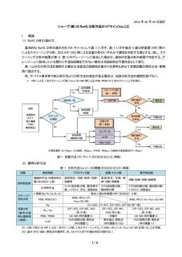 シャープ(株)の RoHS 分析方法ガイドライン[Ver.2.2]