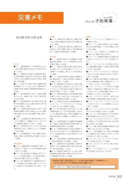 災害メモ(PDFファイル)