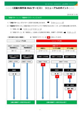 <近畿大阪外為 Web サービス> リニューアルのポイント