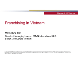 Franchising in Vietnam