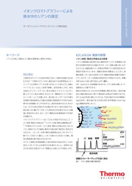 イオンクロマトグラフィーによる 排水中のシアンの測定