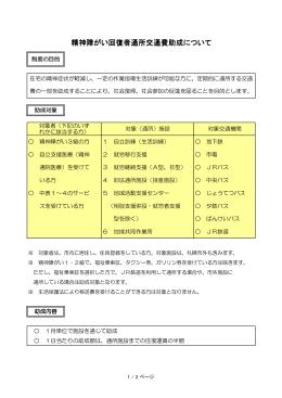 精神障がい回復者通所交通費助成案内文(PDF:85KB)