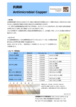 抗菌銅 Antimicrobial Copper