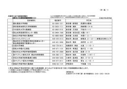 (別 紙 1) 1 慶応義塾大学病院 03-3353-1211 東京都 新宿区