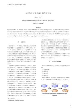 解説論文「人工分子で光合成を組み立てる」
