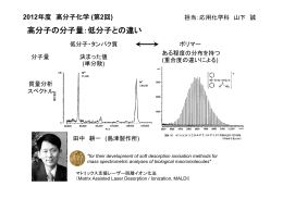 高分子の分子量:低分子との違い