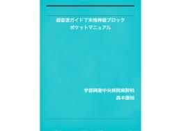 超音波ガイド下末梢神経ブロック ポケットマニュアル 宇部興産中央病院