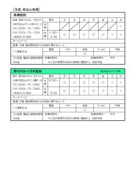 [玉造・岩出山地域] 野村内科小児科医院 高橋医院
