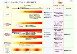 水道システムに関するリスク・課題の再整理( 243KB)