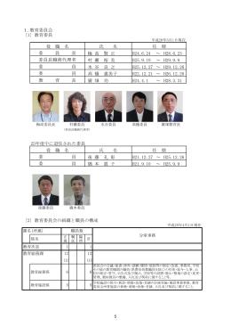 1.教育委員会 〔1〕教育委員 ~ ~ ~ ~ 廣 畑 功 ~ 25年度中に退任され