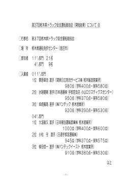 第37回栃木県トラック安全運転競技会(開催結果)について ⑧ 行事名 第